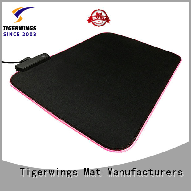 delicate edges stitching computer gaming mouse pad company for game player