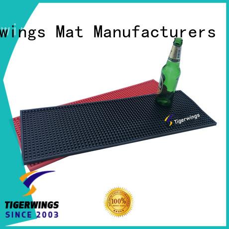 Tigerwings custom logo mats Exporter for Bar protection