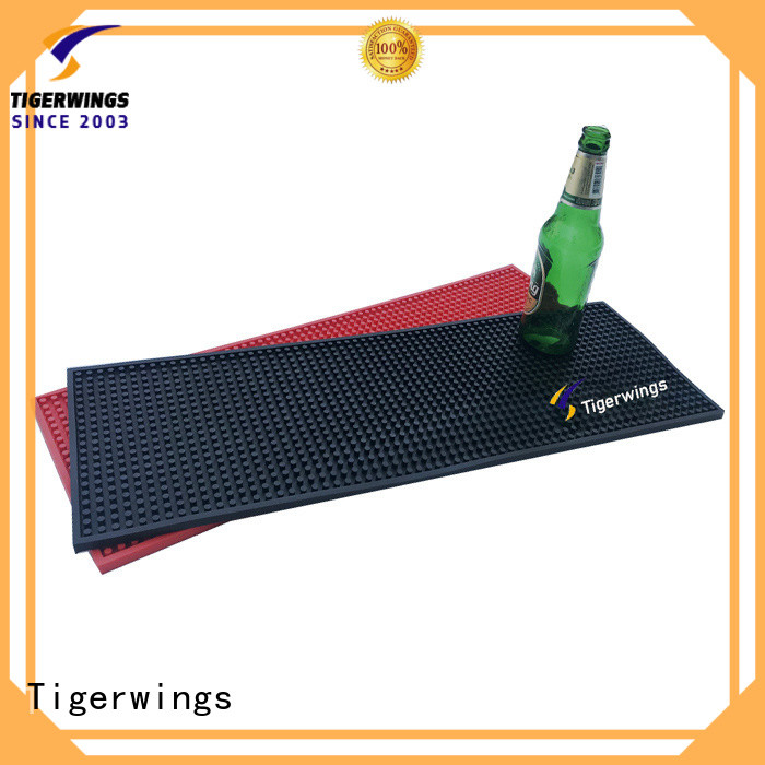 Tigerwings Anti-Skid custom mat company Suppliers for keep bar nice and clean
