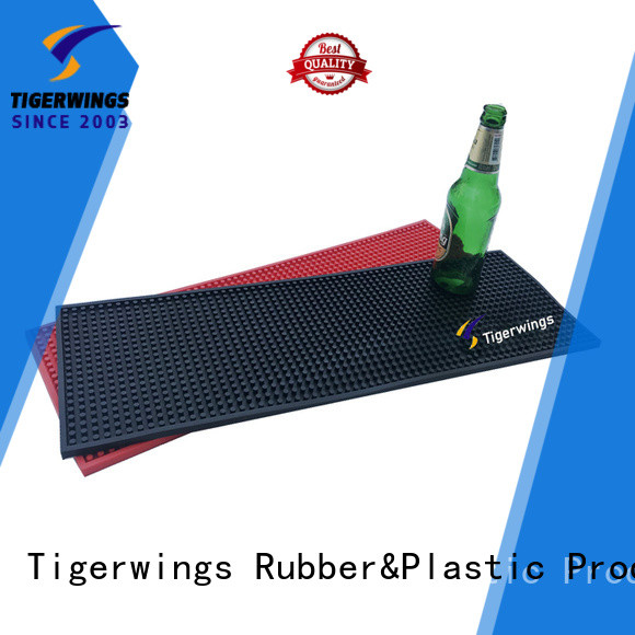 Tigerwings malleable personalised bar mat manufacturer for Bar counter