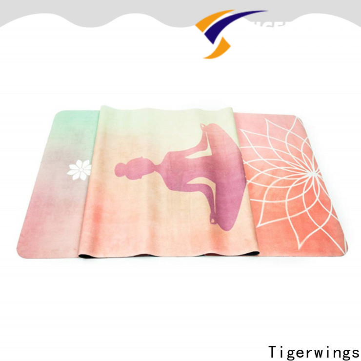 Tigerwings excellent moisture absorbing extra thick yoga mat OEM for Yogi