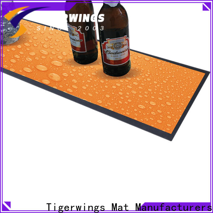 Tigerwings long bar mat customization for keep bar clean