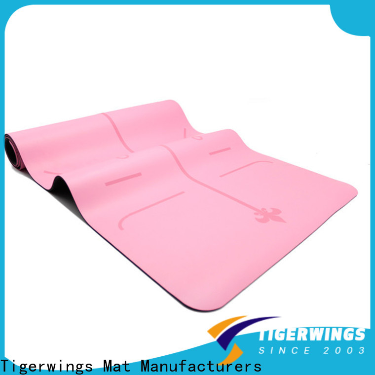 Tigerwings Top patterned yoga mat factory for Fitness