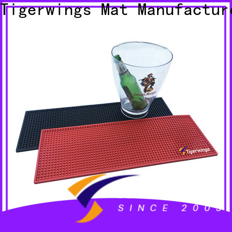 Anti-Skid bar spill mats with logos for business for Bar protection