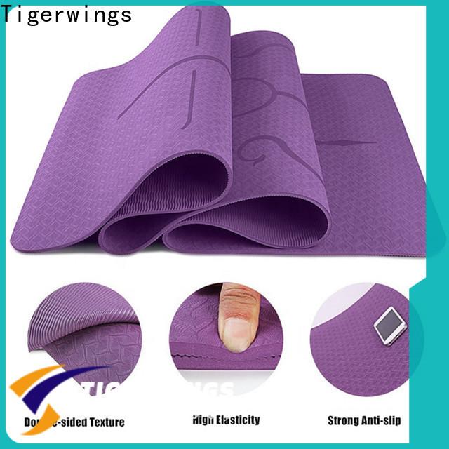 Tigerwings black yoga mat factory for Sportsman