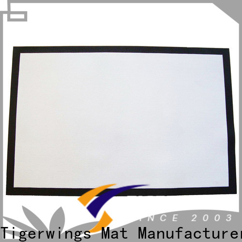 Tigerwings Custom high quality computer chair matt for carpet factory for Internet cafe