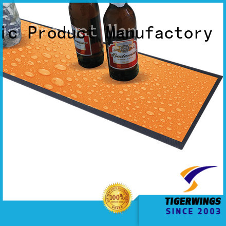 Tigerwings bar mat manufacturers company for keep bar clean