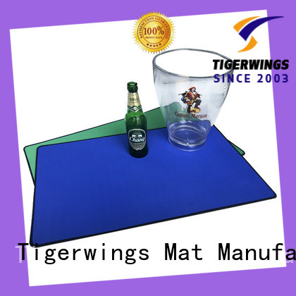 Tigerwings personalized bar spill mat Exporter for bar